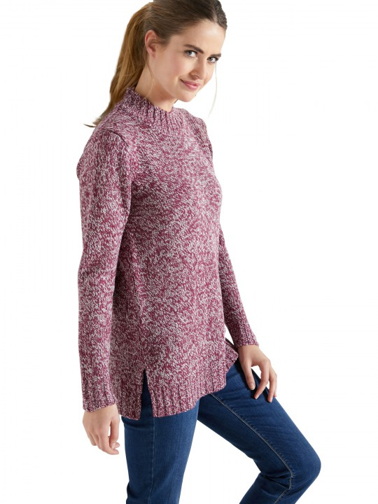 Pull tunique manches longues maille chin
