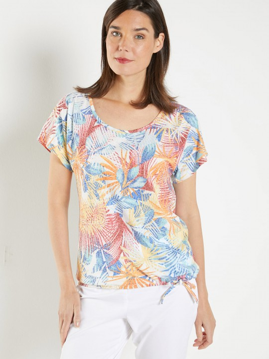 Tee-shirt imprimé tropical