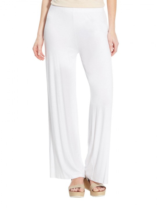 Pantalon large en maille extensible