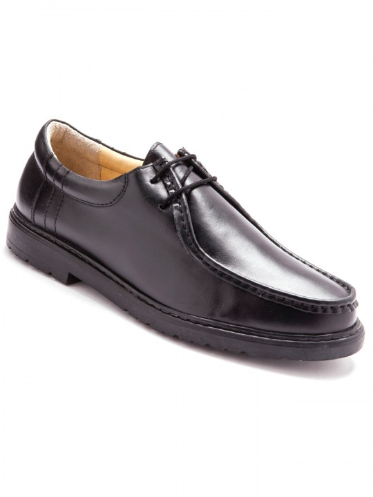 Derbies à lacets en cuir grande largeur