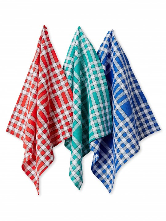 Lot de 6 serviettes de table carreaux