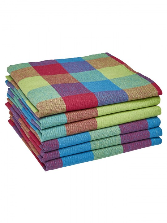 Lot de 6 serviettes de table madras