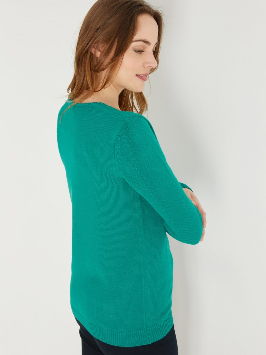 Pull V, manches longues