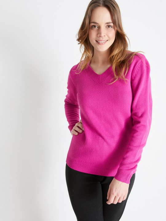Pull V manches longues