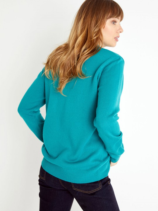 Pull col montant, manches longues