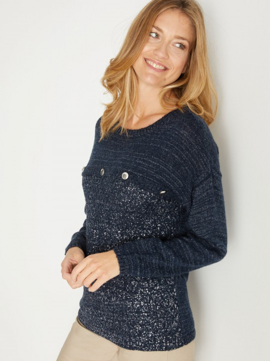Pull fantaisie, manches longues