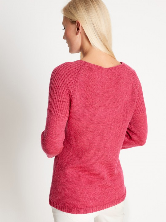 Pull encolure ronde mohair