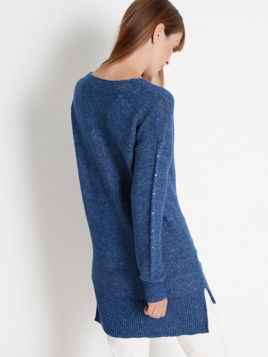 Pull tunique volume loose