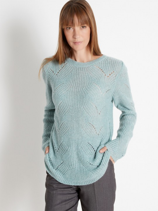 Pull mohair encolure ronde