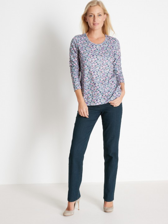Tee-shirt manches longues maille fluide